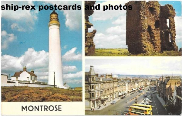 Montrose, Angus - 1972 multiview postcard
